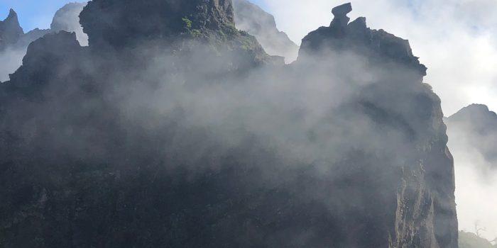 Die markante Felformation beim Pico Ruivo
