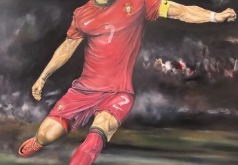 Gemälde von Ronaldo im Museu CR7 in Funchal