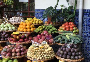 Obst und Gemüse Verkauf auf dem Markt