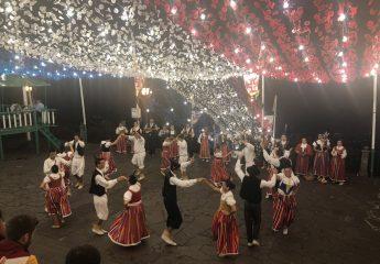 Maderianische Tanzgruppe beim Kirchenfest unterhalb der Kirche in Monte