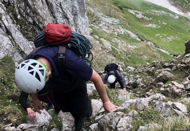Der steile 3er Zustieg zu den 3. Kreuzbergen