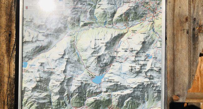 Geländekarte für das Gebiet am Spullersee