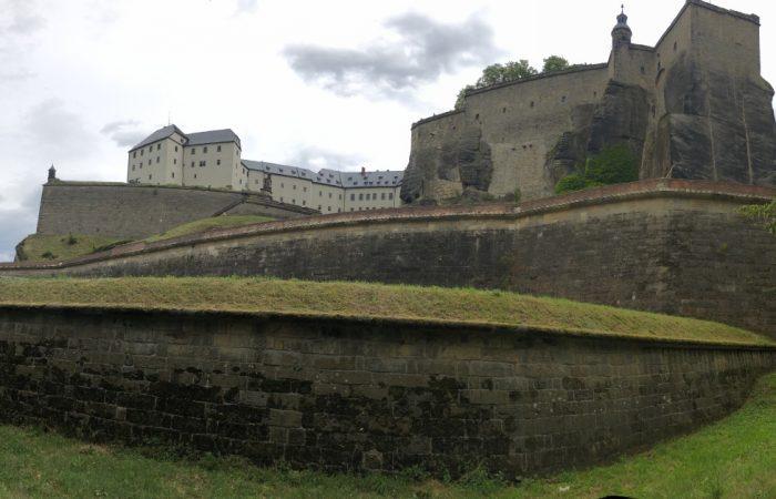Schloß Königstein - eine riesige Anlage direkt in den Sandstein gebaut