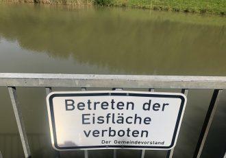 Naja dafür war es doch etwas zu warm am Teich bei der Fischerhütte in Gosheim