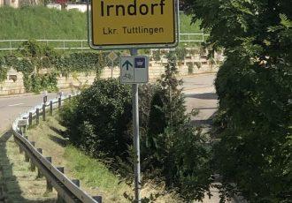 Ortseingang von Irndorf erreicht